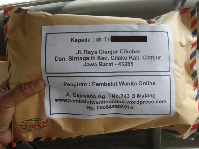 pengiriman Pembalut Wanita ke alamat Jl. Raya Cianjur Cibeber, Dusun Sirnagalih Kecamatan Cilaku Kabupaten Cianjur, JAWA BARAT